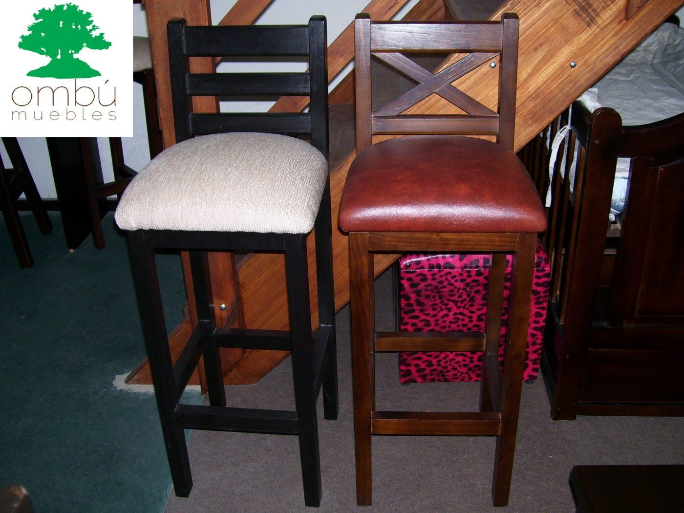 Butacas para bares en madera omb muebles uruguay for Muebles rusticos uruguay