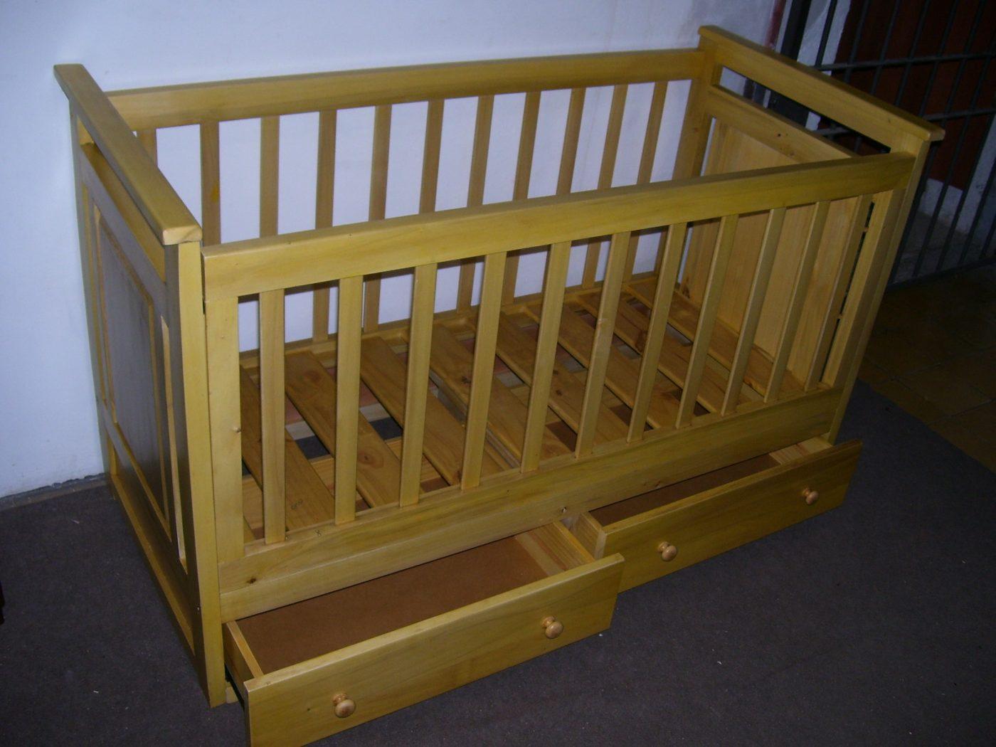 cunas infantiles en madera omb muebles uruguay
