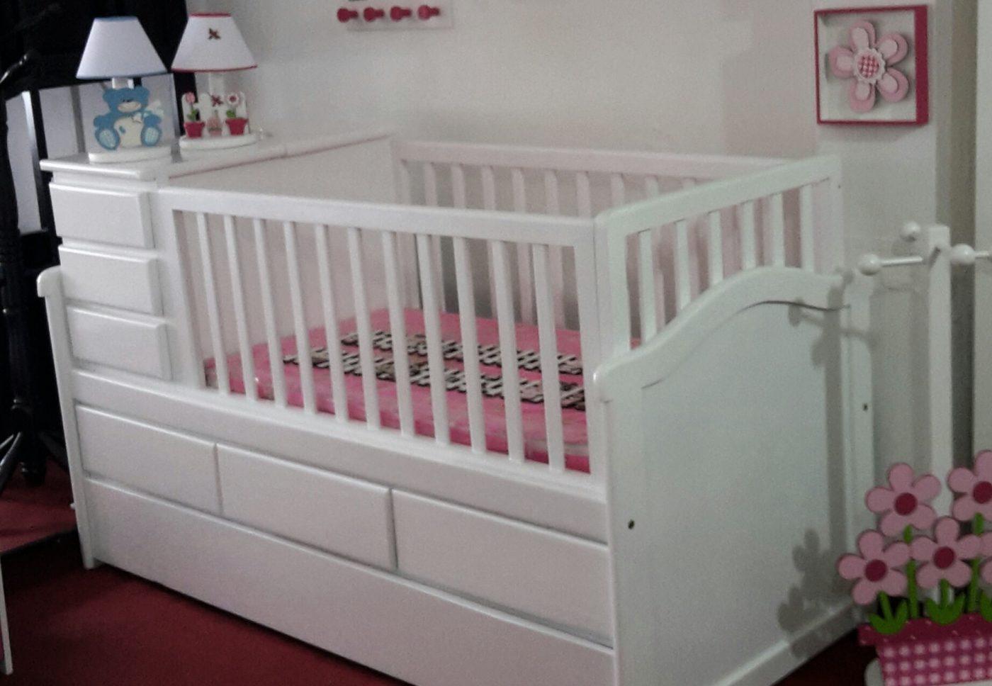 Cunas infantiles en madera omb muebles uruguay for Muebles madera maciza uruguay